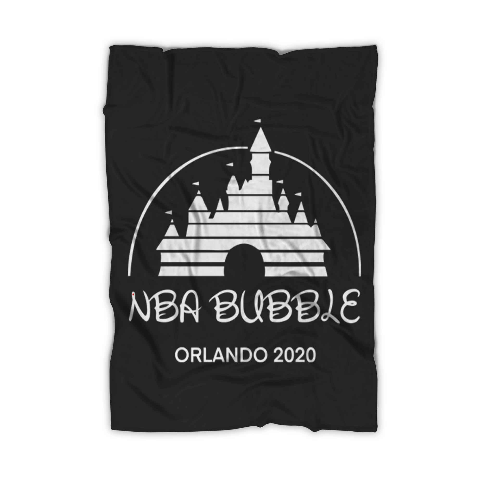 Nba Bubble Orlando 2020 Lakers Fleece Blanket - Nuu Shirtz