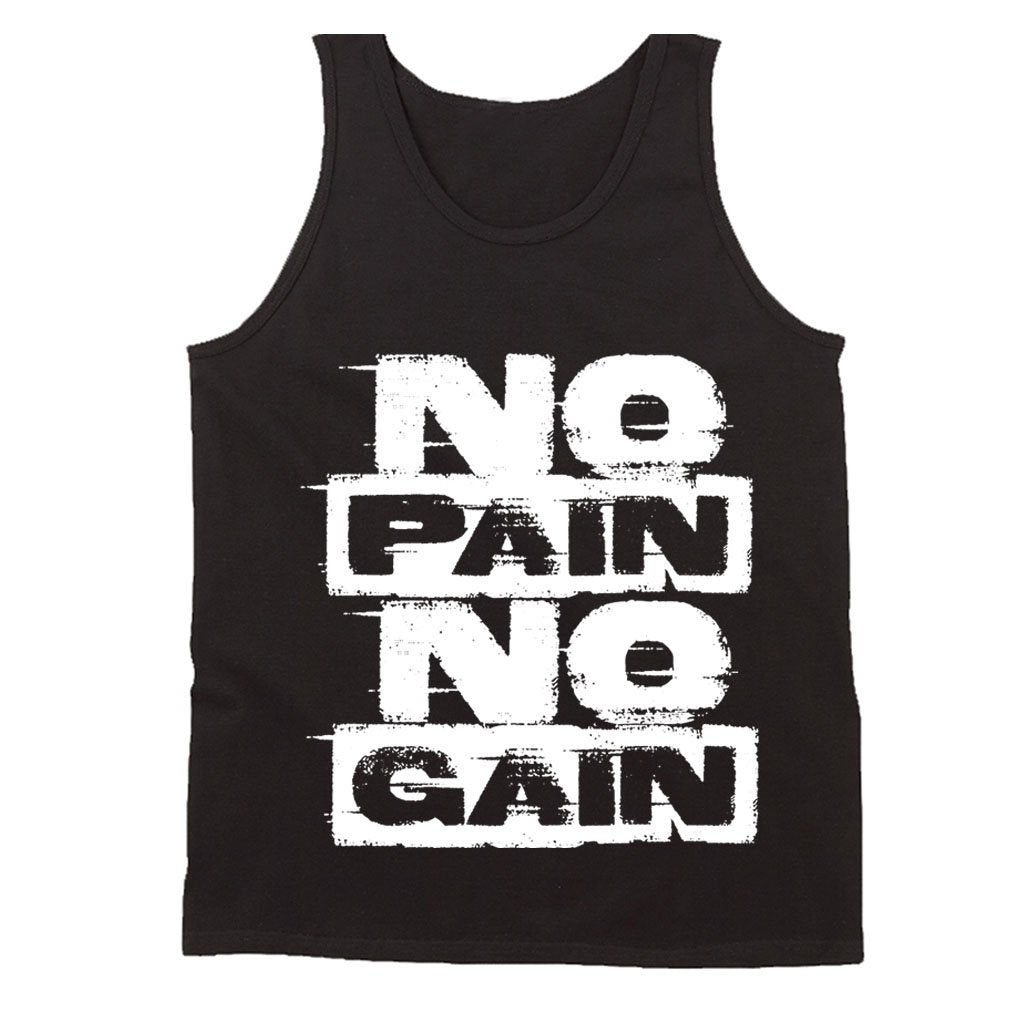 No Pain No Gain Mma Gym Bodybuilding Motivation Men's Tank Top