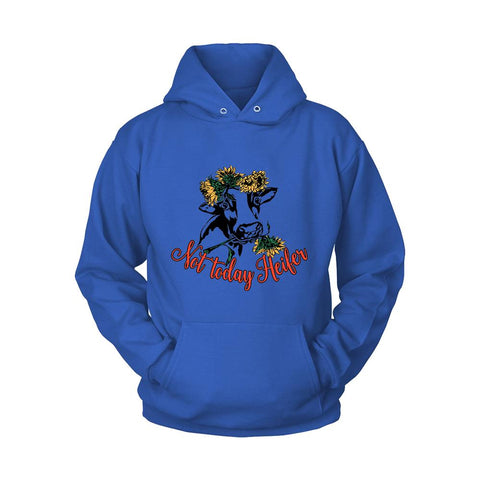 Not Today Heifer Cow Sunflower Unisex Hoodie - Nuu Shirtz
