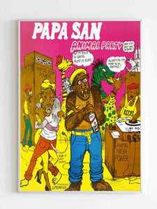 Papa San Animal Party Lp Cover Poster