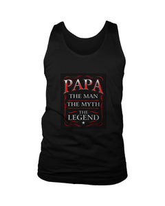Papa The Man The Myth The Legend Poster Men's Tank Top - Nuu Shirtz