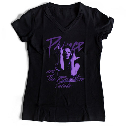Prince And The Revolution Parade Women's V-Neck Tee T-Shirt - Nuu Shirtz