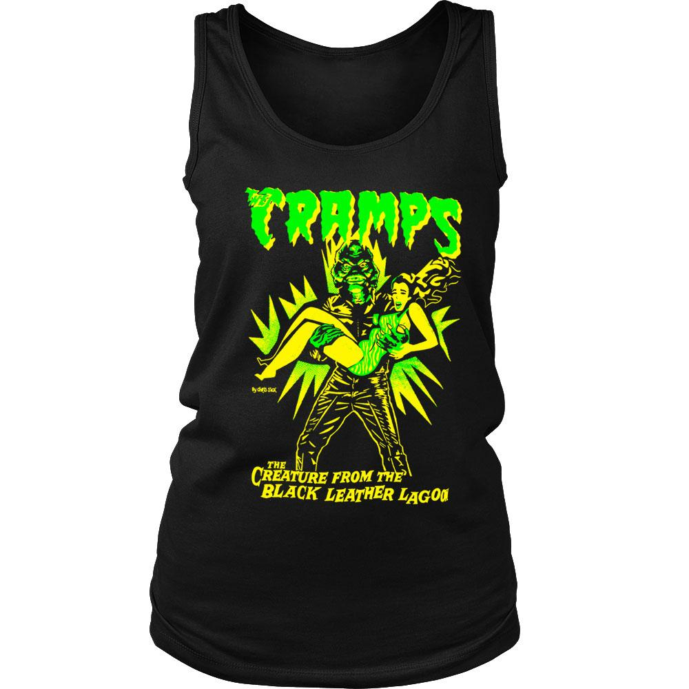 Psychobilly The Cramps Creature From Leather Lagoon Horror Women's Tank Top
