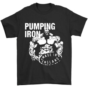 Pumping Iron Made In England Men's T-Shirt