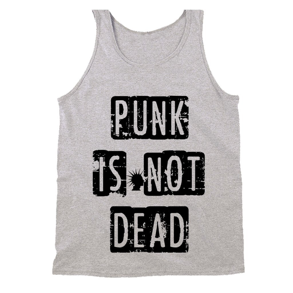 Punk Is Not Dead Fun Music Hipster Men's Tank Top - Nuu Shirtz