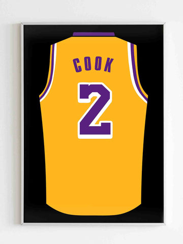 Quinn Cook Jersey Lakers Matte Posters - Nuu Shirtz