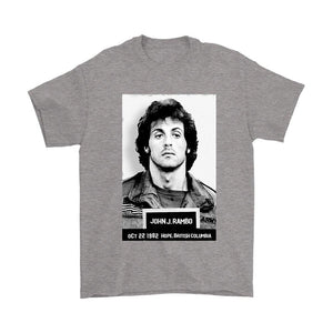 Rambo Police Mugshot Funny Movie Men's T-Shirt - Nuu Shirtz