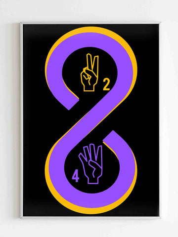 Retired 8 24 Lakers Matte Posters - Nuu Shirtz