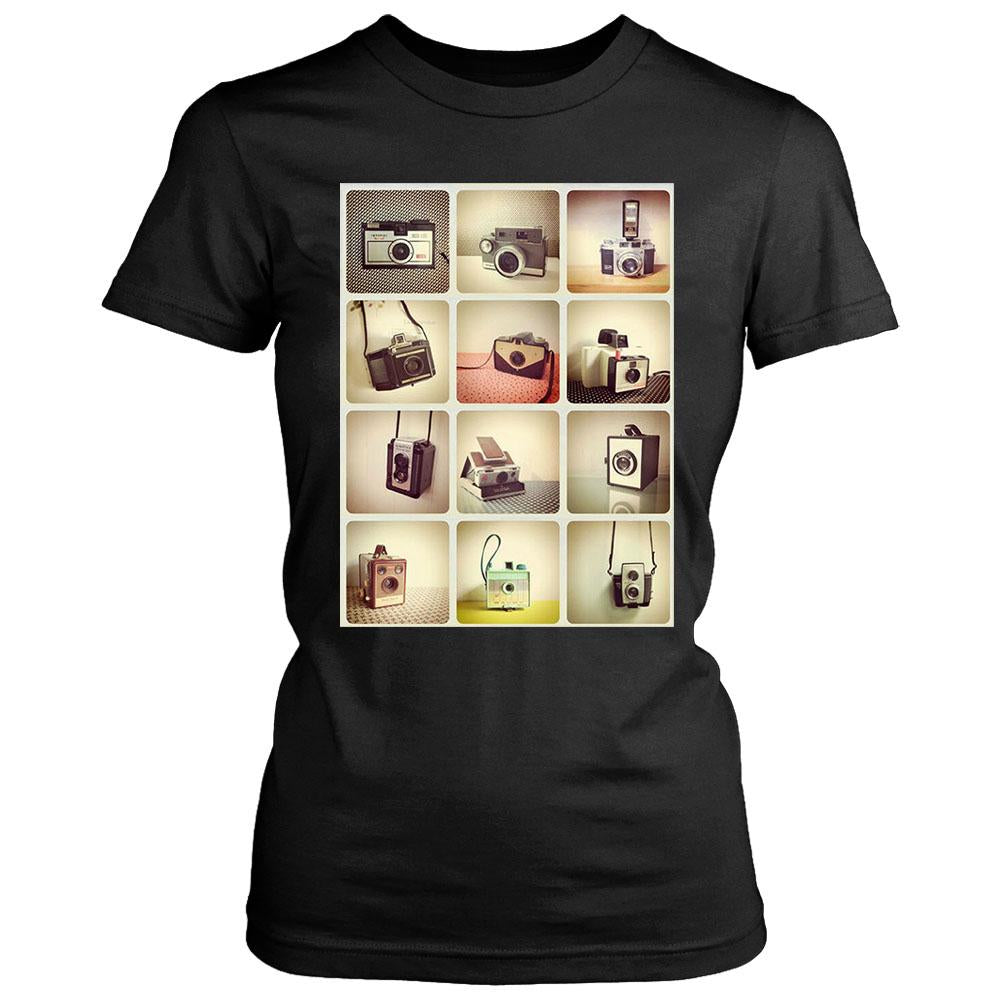 Retro Cameras Photography Hipster Women's T-Shirt - Nuu Shirtz