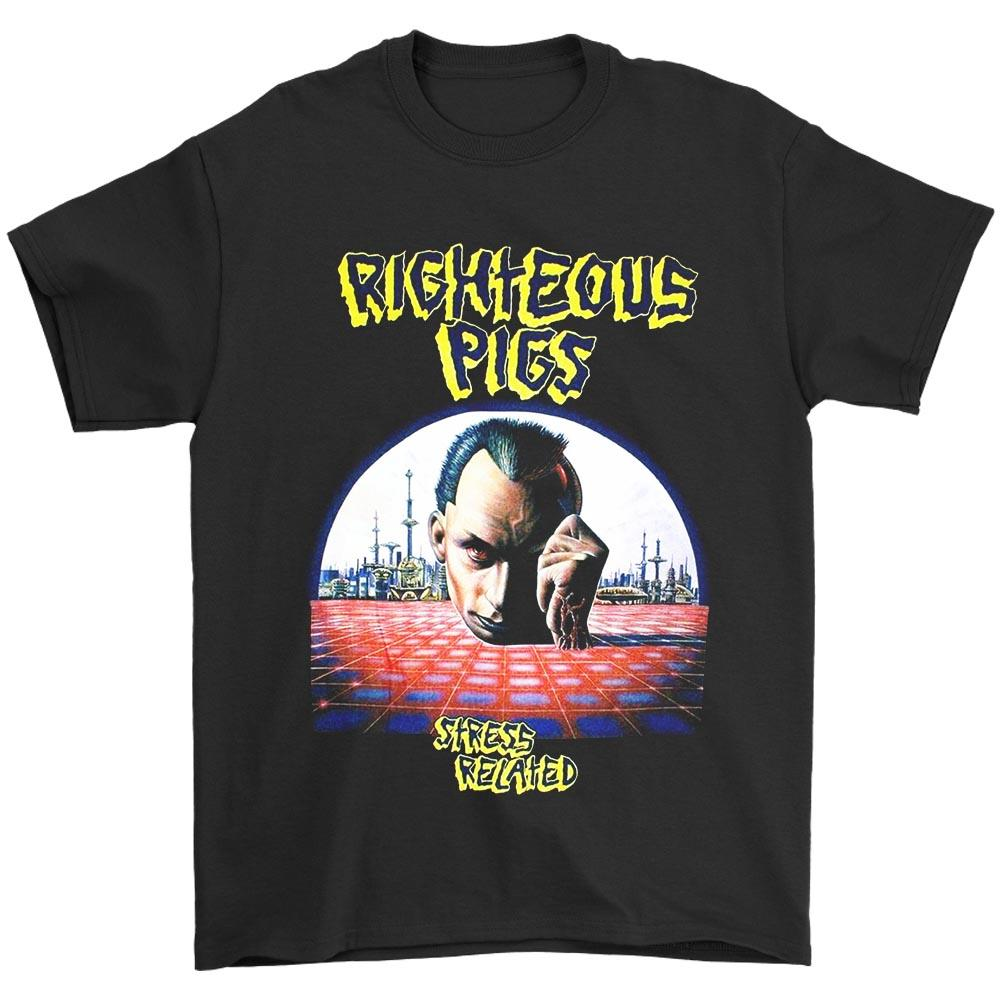 Righteous Pigs Stress Related Death Grindcore Napalm Death Men's T-Shirt