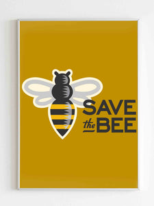 Save The Bees Honey Poster