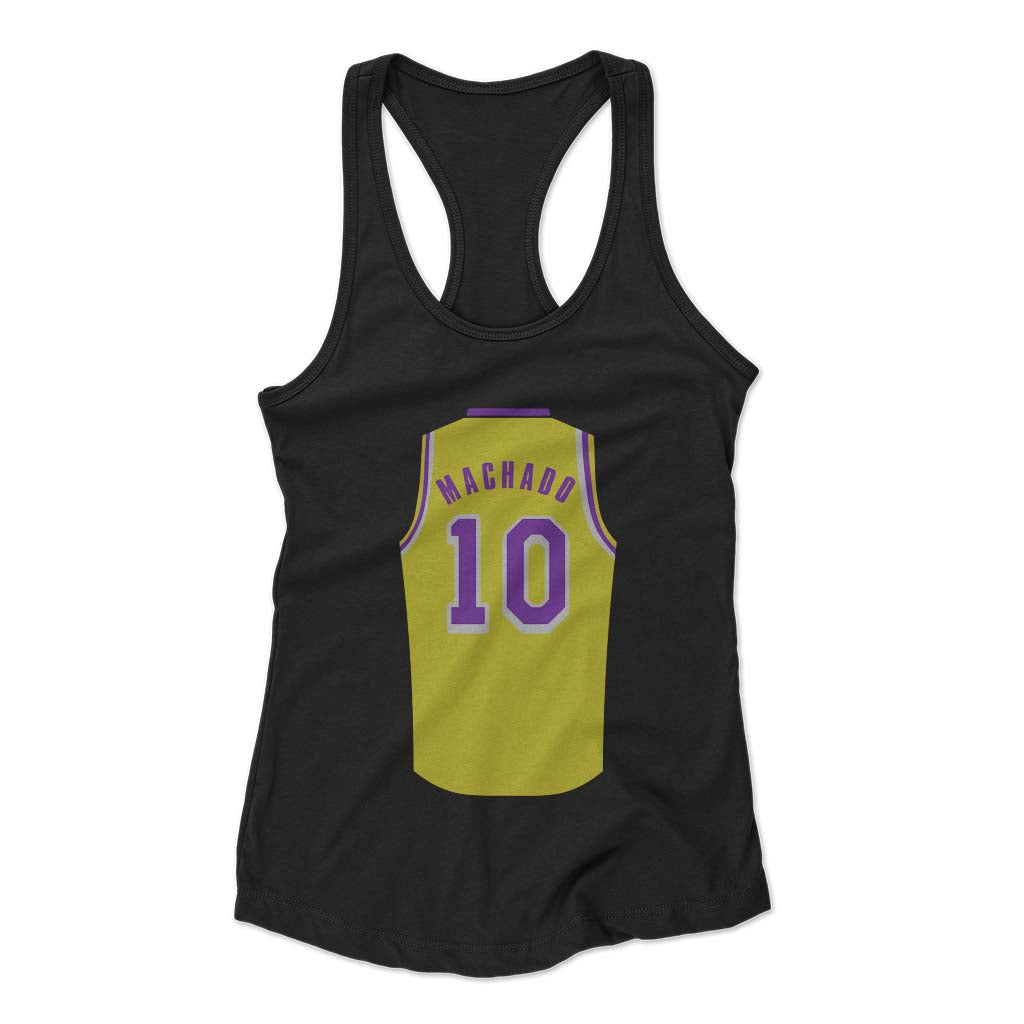 Scott Machado Jersey Lakers Woman's Racerback Tank Top - Nuu Shirtz
