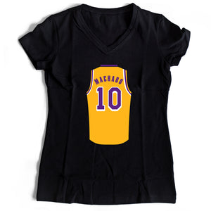 Scott Machado Jersey Lakers Women's V-Neck Tee T-Shirt - Nuu Shirtz