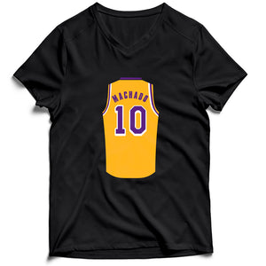 Scott Machado Jersey Lakers Men's V-Neck Tee T-Shirt - Nuu Shirtz