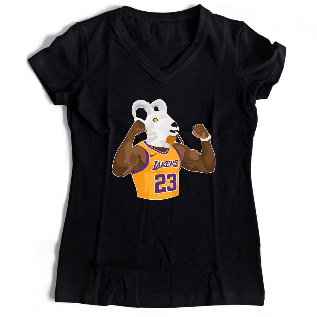 Shannon Sharpe Legoat Lakers Women's V-Neck Tee T-Shirt - Nuu Shirtz