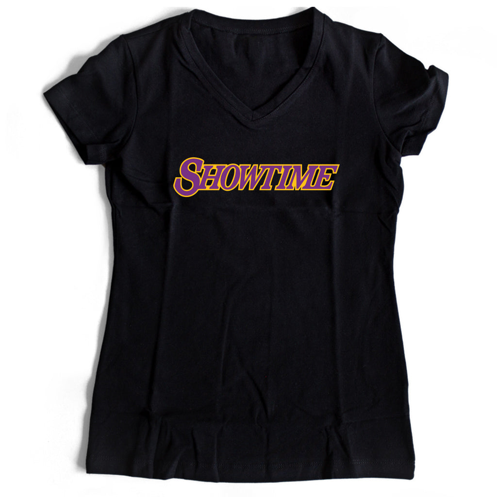 Showtime Los Angeles The Sequel  Lakers Women's V-Neck Tee T-Shirt - Nuu Shirtz