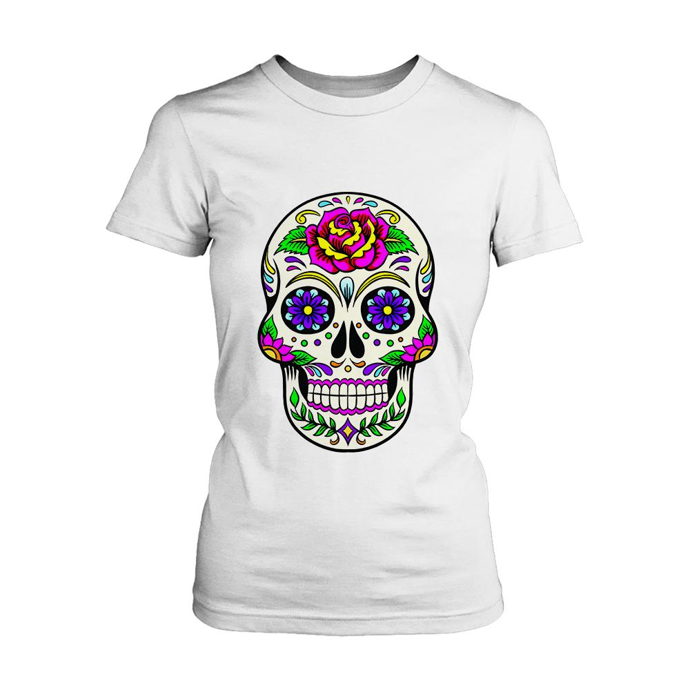 Skull Day Of The Dead Art Women's T-Shirt - Nuu Shirtz