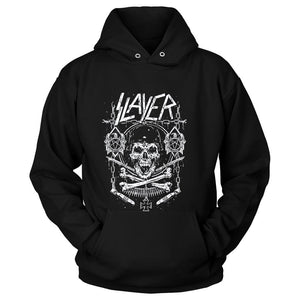 Slayer Skull And Bones Show No Mer Unisex Hoodie - Nuu Shirtz