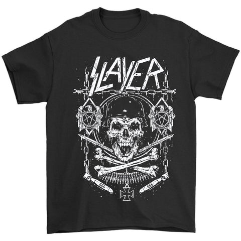 Slayer Skull And Bones Show No Mer Men's T-Shirt
