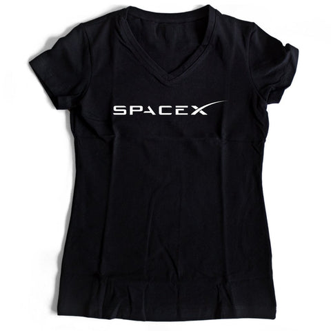 Spacex Nasa Women's V-Neck Tee T-Shirt - Nuu Shirtz