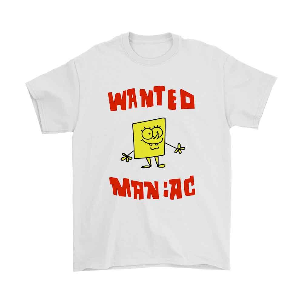 Spongebob Wanted Maniac Men'S T-Shirt