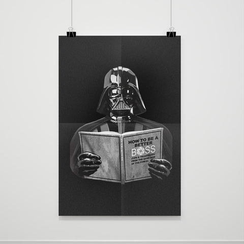 Star Wars Darth Vader How To Be A Better Boss Poster - Nuu Shirtz