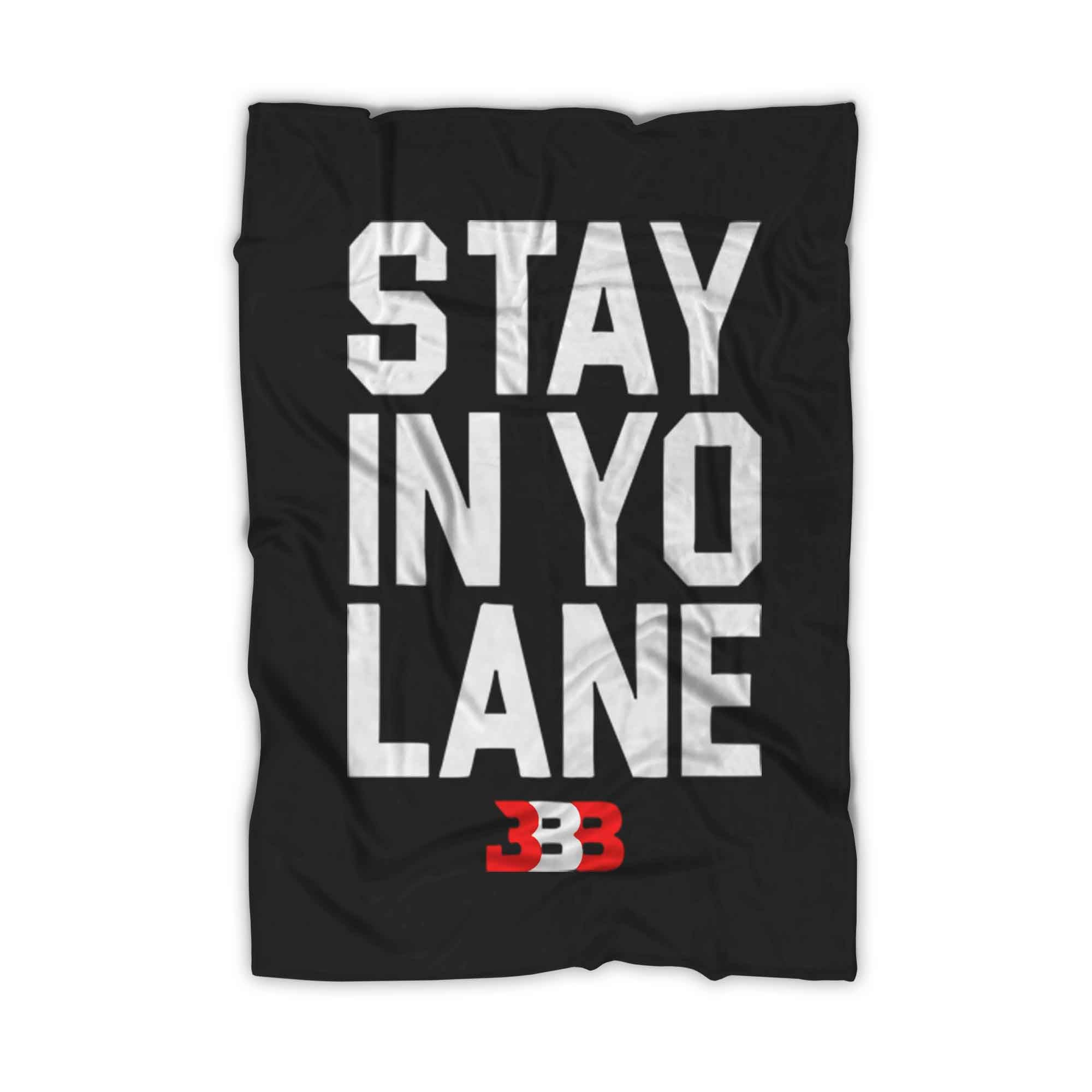 Stay In Yo Lane Bbb Lakers Fleece Blanket - Nuu Shirtz