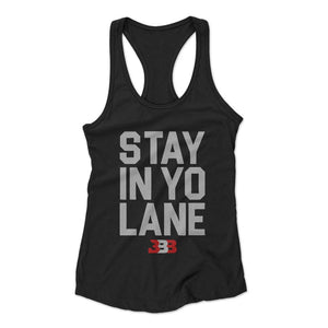Stay In Yo Lane Bbb Lakers Woman's Racerback Tank Top - Nuu Shirtz