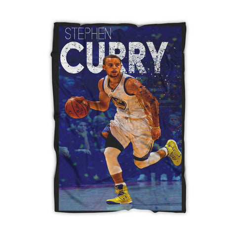 Stephen Curry Dribble Poster Blanket