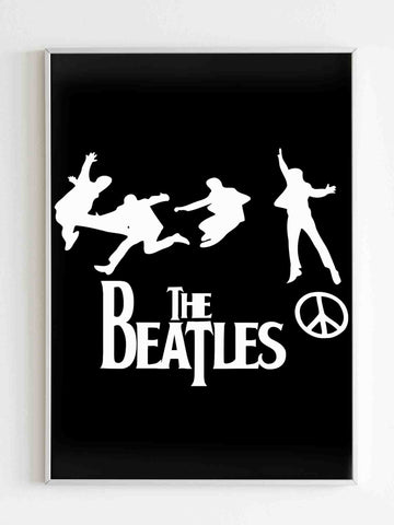 The Beatles Band Peace Poster