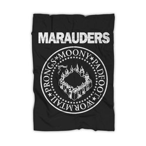 The Marauders Hogwarts Retro Music Band Logo Parody Blanket