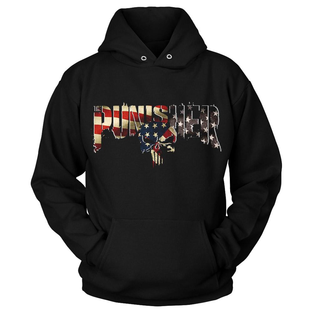 The Punisher Skull Unisex Hoodie - Nuu Shirtz