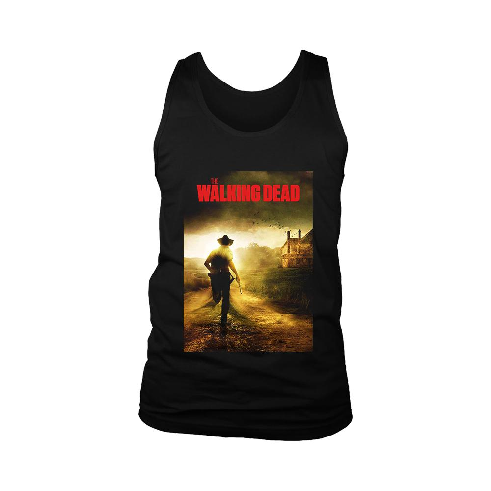 The Walking Dead Cop Poster Men's Tank Top - Nuu Shirtz