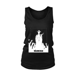 The Walking Dead Silhouette Logo Women's Tank Top - Nuu Shirtz