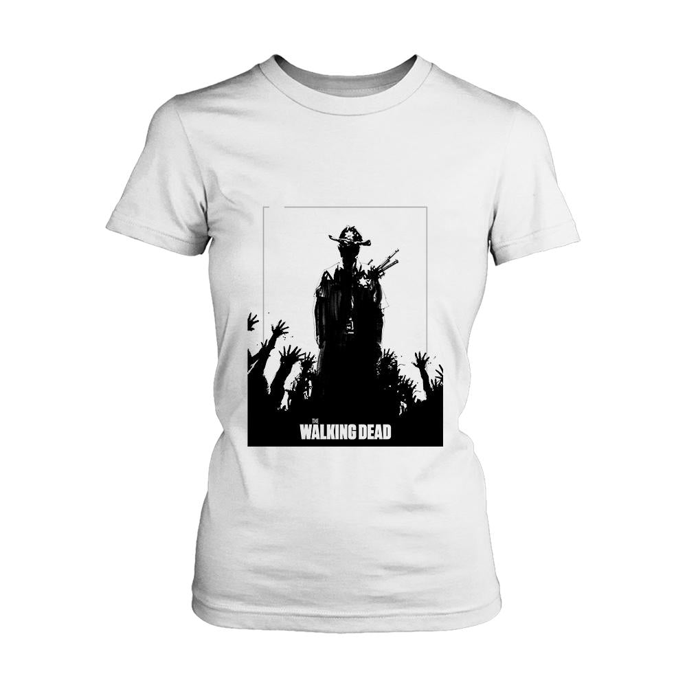 The Walking Dead Silhouette Logo Women's T-Shirt - Nuu Shirtz