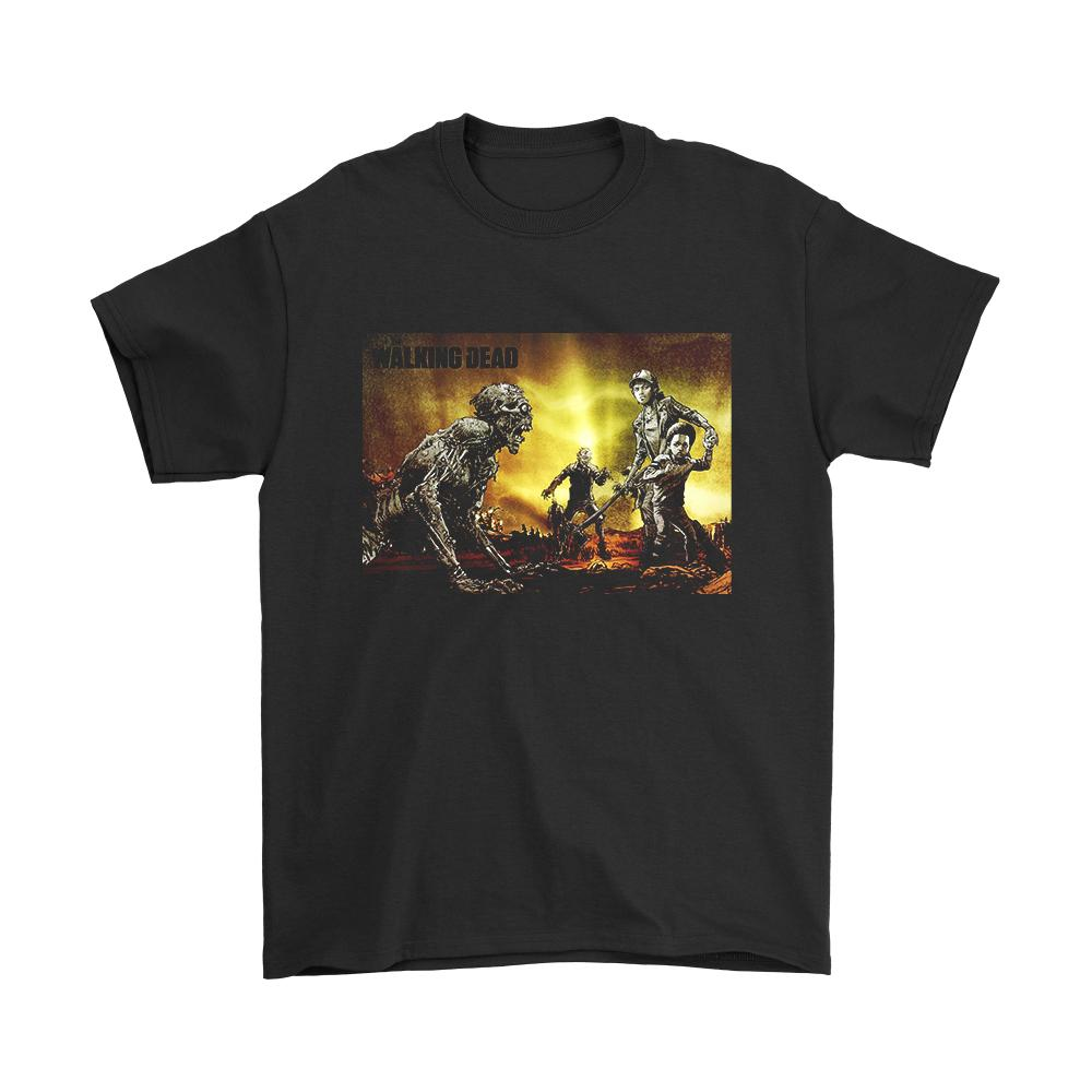 The Walking Dead Zombies Poster Men's T-Shirt