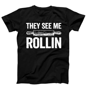 They See Me Rollin Funny Rolling Pin Baking Men's T-Shirt - Nuu Shirtz