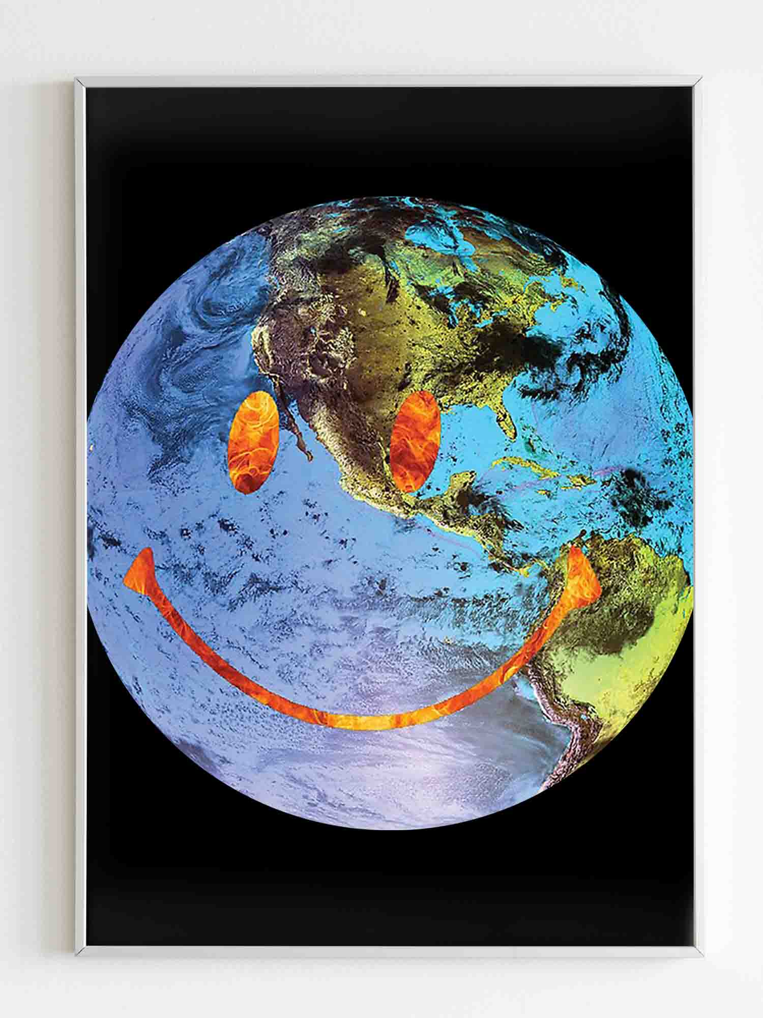 Travis Scott Astroworld Globe Smiley Poster