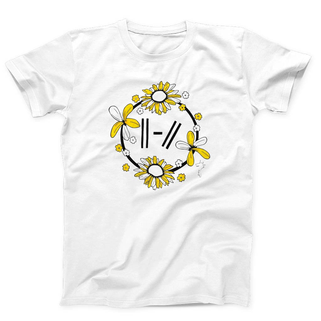 Twenty One Pilots Trench Flowered Logo Men's T-Shirt - Nuu Shirtz
