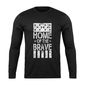 Under Rrmour Home Of The Brave The Rock Project Grunge Long Sleeve T-Shirt - Nuu Shirtz