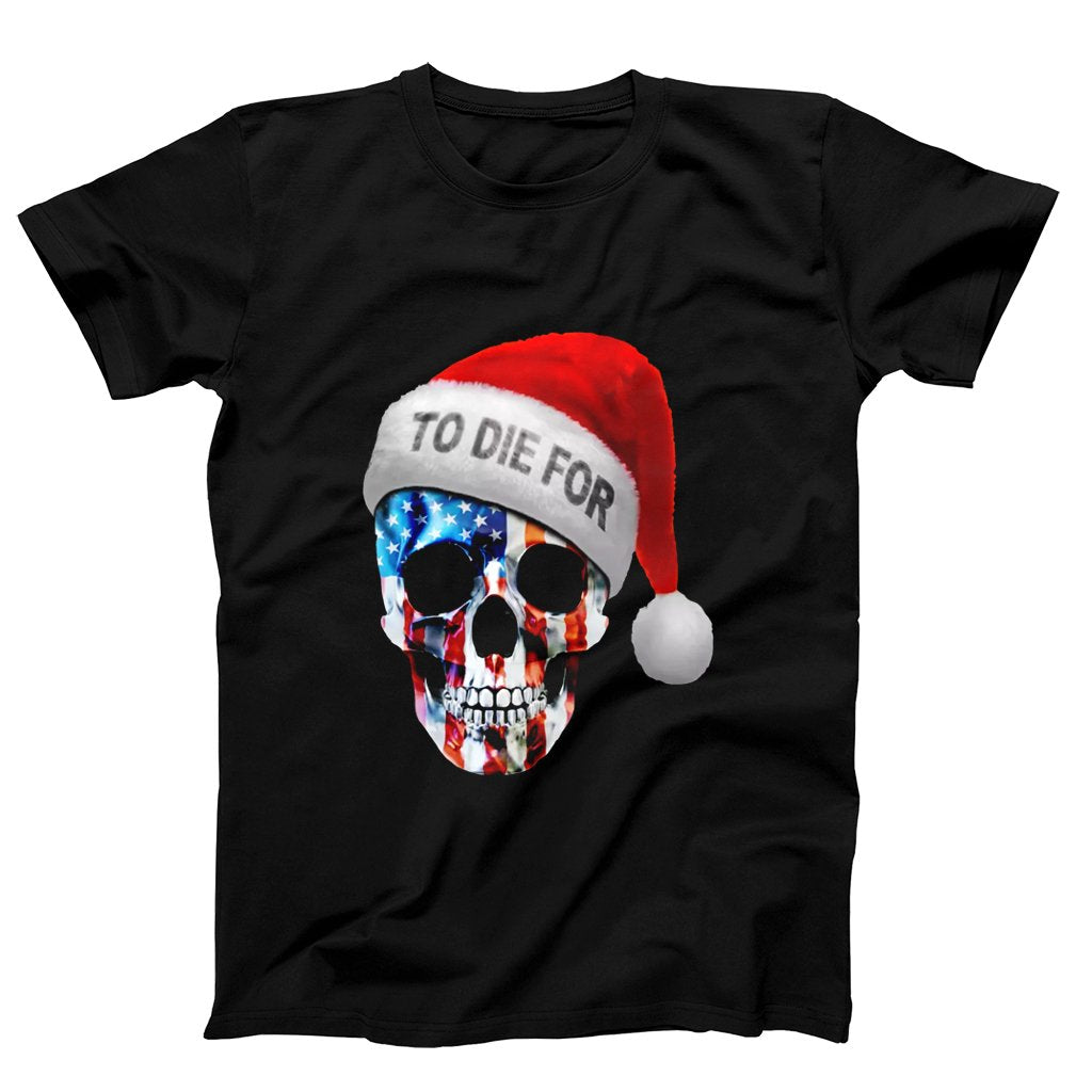 United State Skull Santa Clause To Die For Men's T-Shirt - Nuu Shirtz