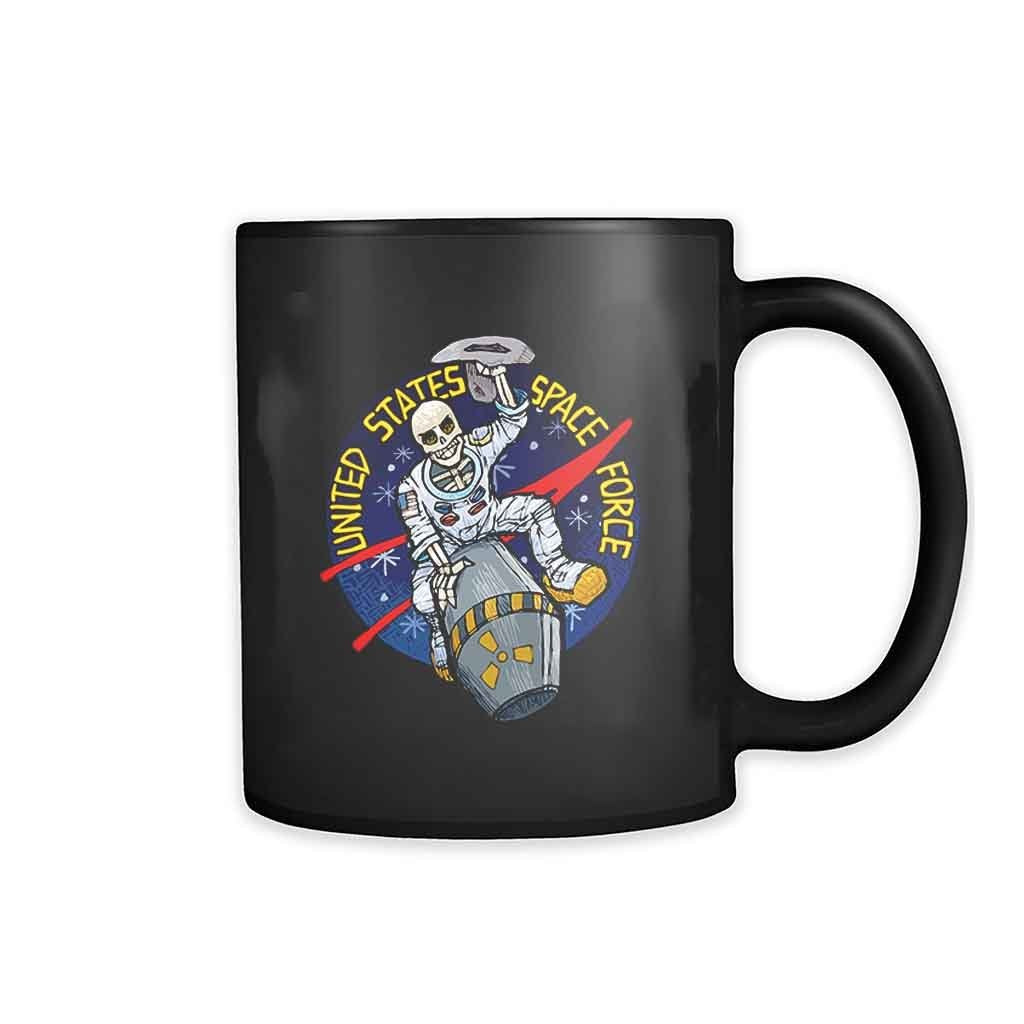 United States Space Force Astronaut Skull 11oz Mug