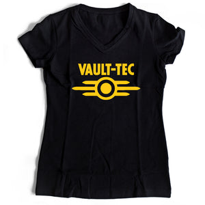 Vault Tech Women's V-Neck Tee T-Shirt