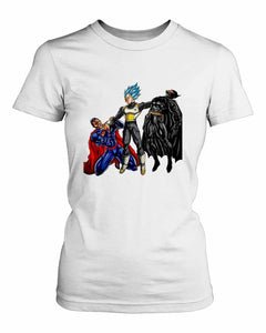 Vegeta Beat Batman Women's T-Shirt - Nuu Shirtz