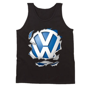 Vw Volkswagen Logo Torn Men's Tank Top