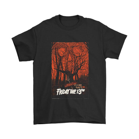 Welcome To Camp Crystal Lake Its A Nice Place To Die Friday The 13th Poster Men's T-Shirt