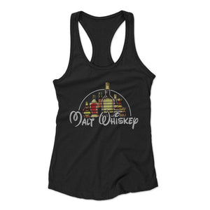 Whiskey Malt Whiskey Disney Woman's Racerback Tank Top