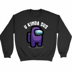 You Kinda Sus Among Us Purple Character Sweatshirt Sweater - Nuu Shirtz