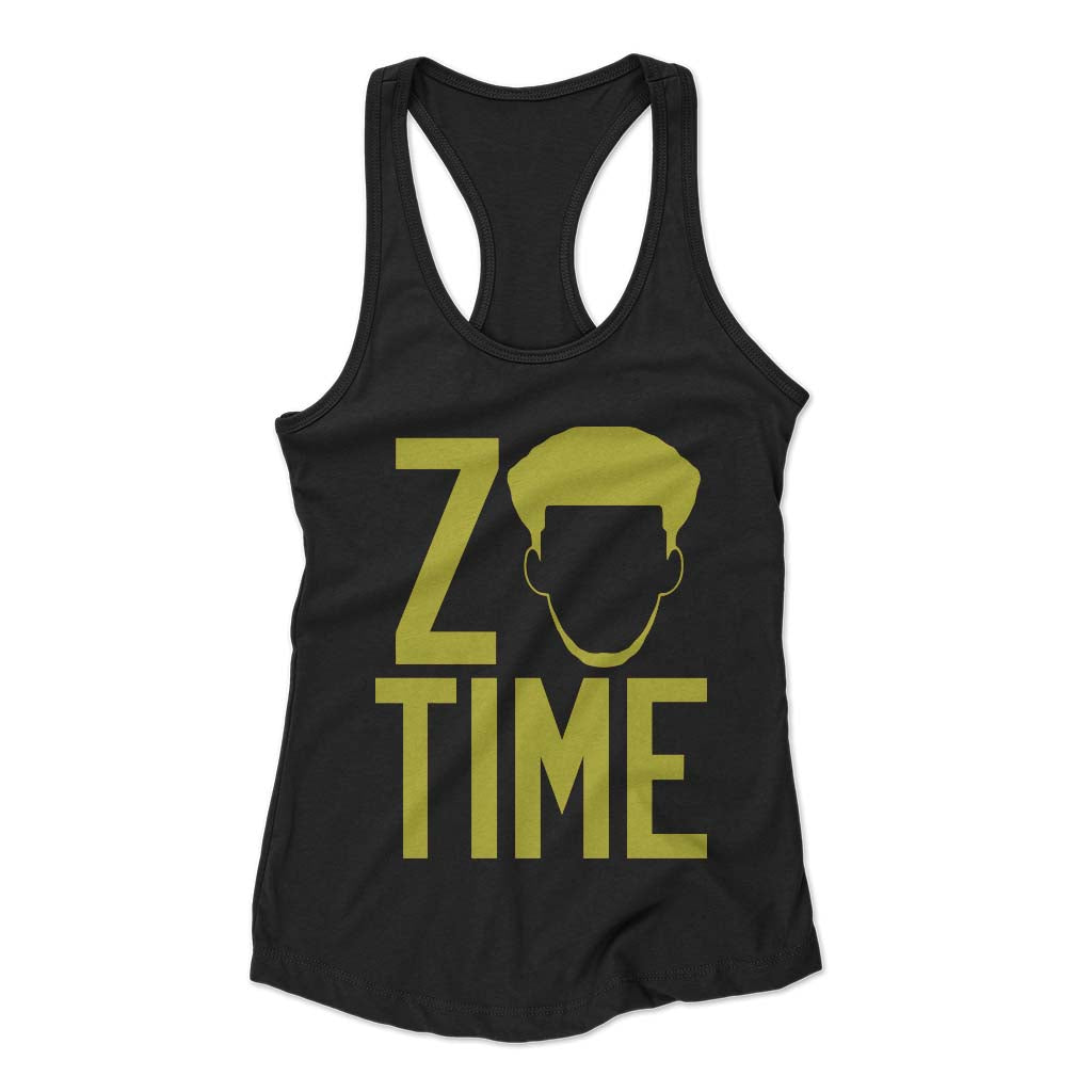 Zo Time Purple Lakers Woman's Racerback Tank Top - Nuu Shirtz