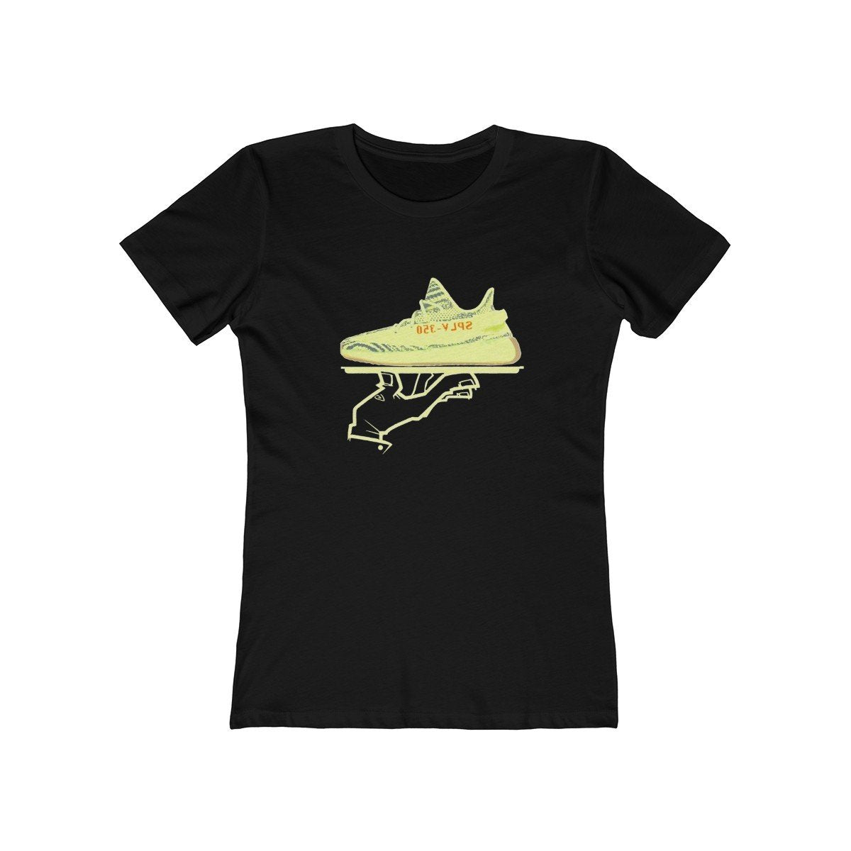 Yeezy Boost 350 V2 Semi Frozen Yellow Sneakermatch Womens T Shirt